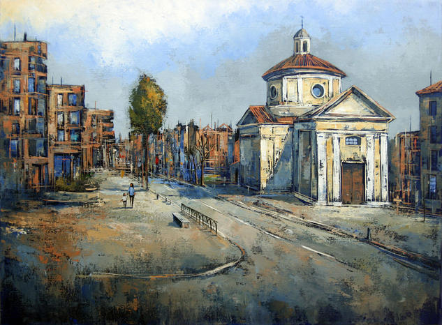 Old Town III Landscaping Oil Canvas
