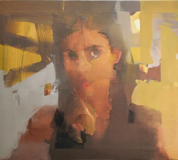 Golden Brown Lienzo Óleo Retrato