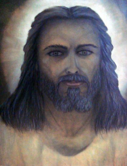 Cristo Figura Óleo Tabla