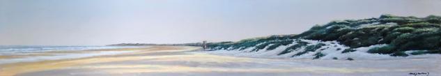 paisaje de la playa de la barrosa al amanecer