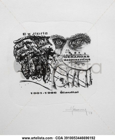 EXLIBRIS GERARDAS BAGDONAVICIUS Litography