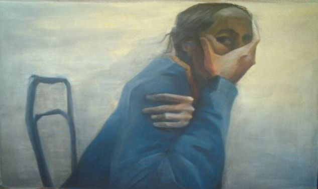 El silencio Acrylic Panel Figure Painting