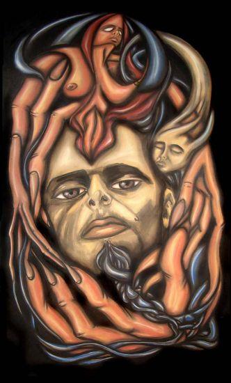 """Confundo, Miento"" Pastel Panel Figure Painting"