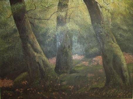 Hayedo en otoño Oil Canvas Landscaping