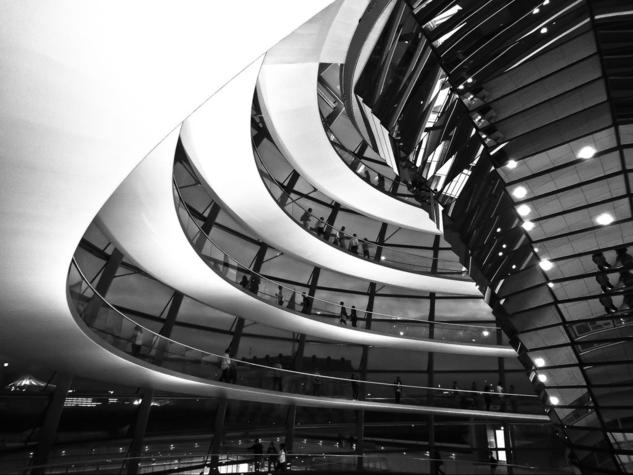 reichstag Black and White (Digital) Architecture and Interiorism