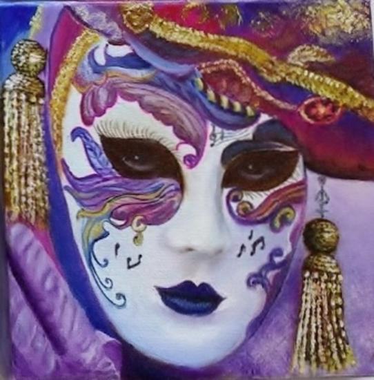mascara veneciana I Lienzo Óleo Retrato