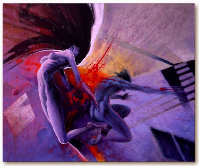 Punto de Colisión Nude Paintings Acrylic Textile