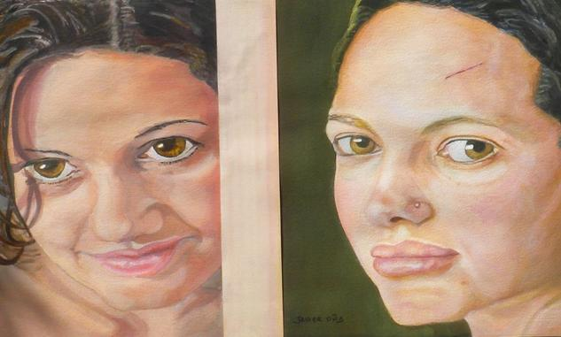 Dos Miradas Papel Otros Retrato