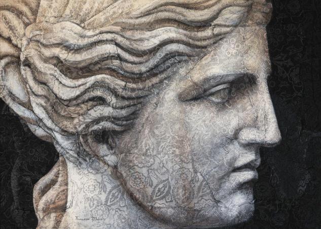 ALEGORIA II Figure Painting Oil Panel