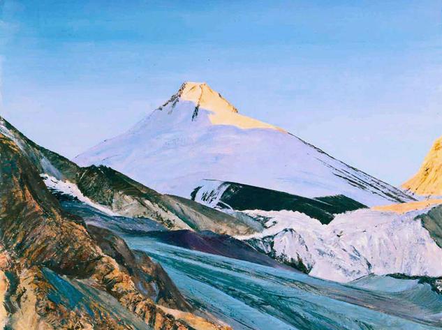 Peak of Four Glacier Paisaje Lienzo Óleo