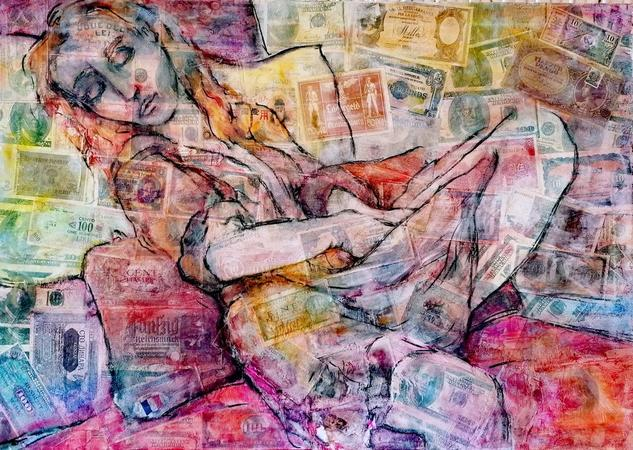 SUEÑOS ALCANZADOS / REACHED DREAMS Figura Media Mixta Lienzo