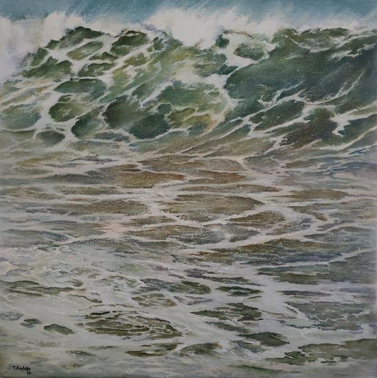 Cuando rompe la ola Marine Painting Oil Canvas