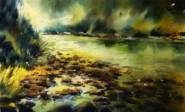 rio piloña en antrialgo Landscaping Watercolour Paper