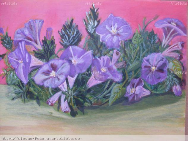 Flores Acrílico Lienzo Floral