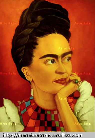 Frida en Rojo Lienzo Óleo Otros