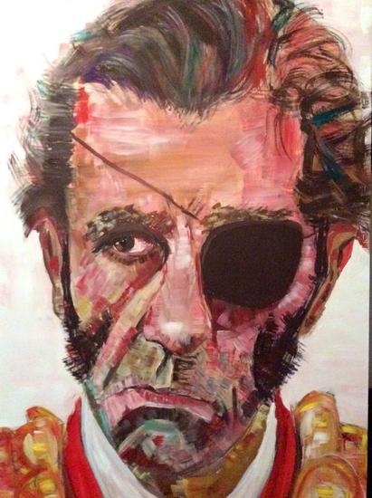 La mirada herida Tabla Acrílico Retrato