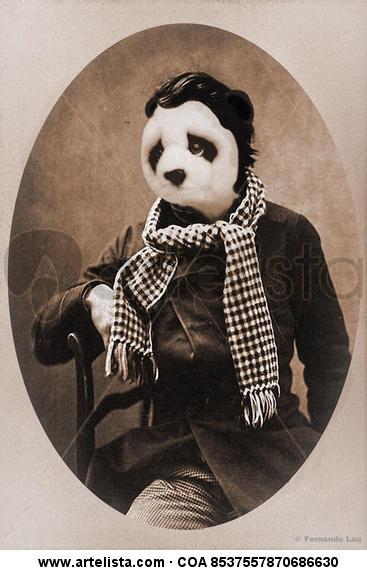 Lord Panda Papel Retrato