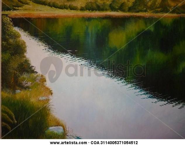 Laguna del Fraile Lienzo Óleo Paisaje