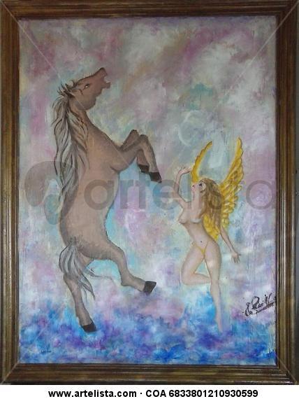 El Angel y el Caballo Otros Óleo Otros