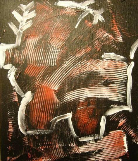 Black and red 2 Acrílico Tabla Retrato