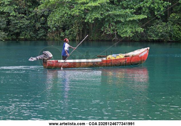 Blue Lagoon Fishing Color (Digital) Naturaleza