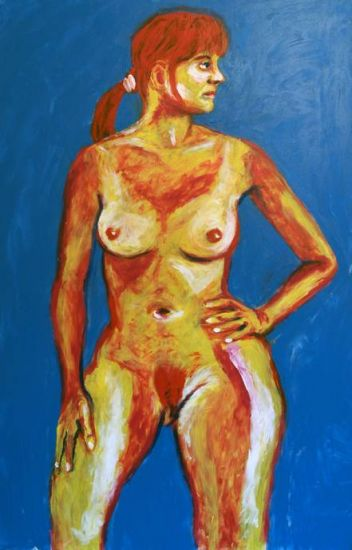 Desnudo delantero de mujer