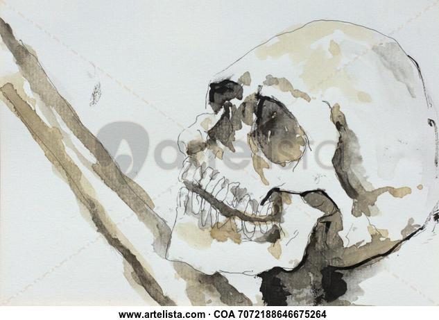 Esqueleto 003 Otros Tinta Papel