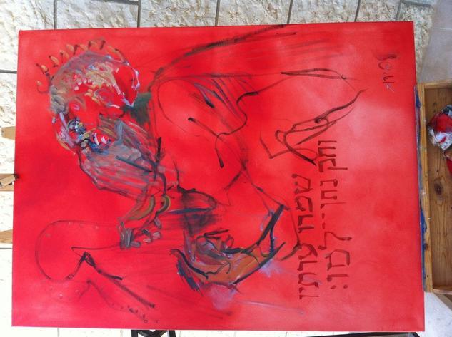 El Rey David Tocando musica Canvas Oil Figure Painting