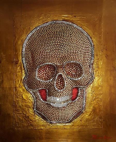 Skull Tabla Óleo Figura