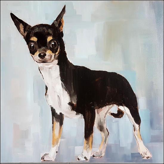 Chihuahua Canvas Mixed media Animals