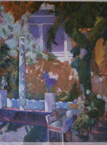 el jardin de sorolla Papel Pastel Paisaje