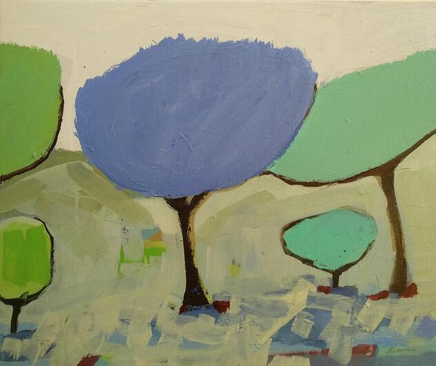 ÁRBOLES DE MAYO / 4 Landscaping Acrylic Canvas