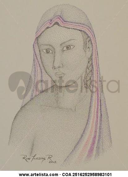 Indigena III Papel Tinta Figura