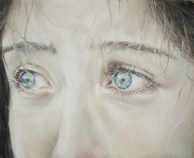 Ojos 2 Retrato Óleo Lienzo