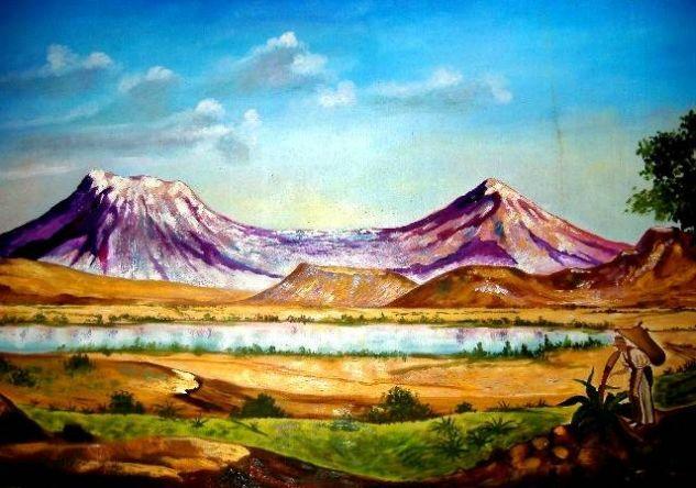 Las montañas Óleo Lienzo Paisaje