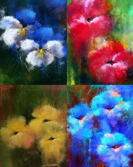 Pétalos VIII Papel Pastel Floral