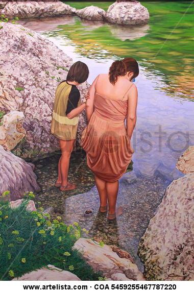los pies en el agua