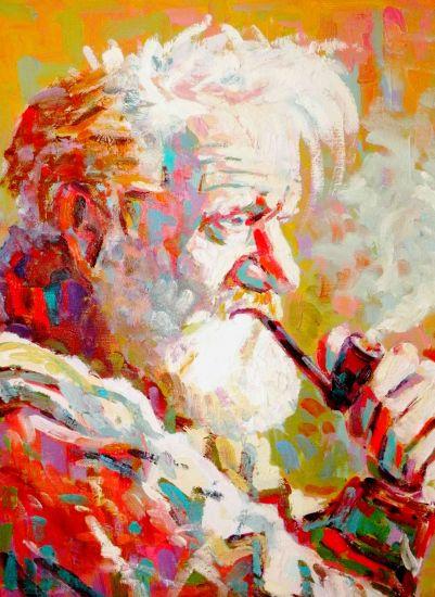 les fumeurs II Lienzo Óleo Retrato