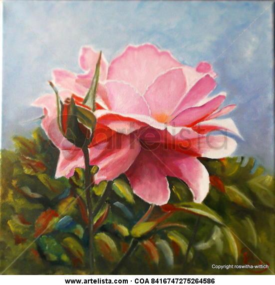Rosgarden Floral Óleo Lienzo