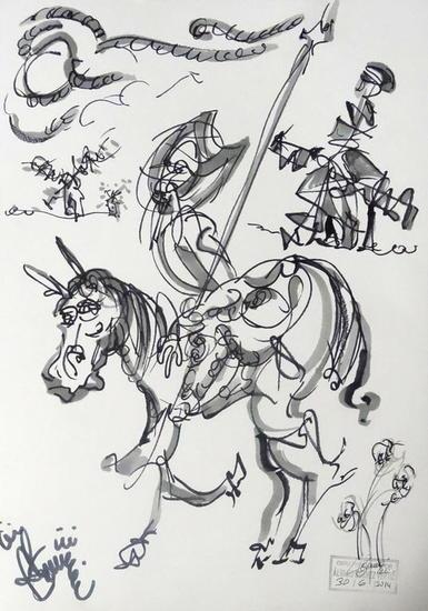 Don Quijote y Sancho Ink