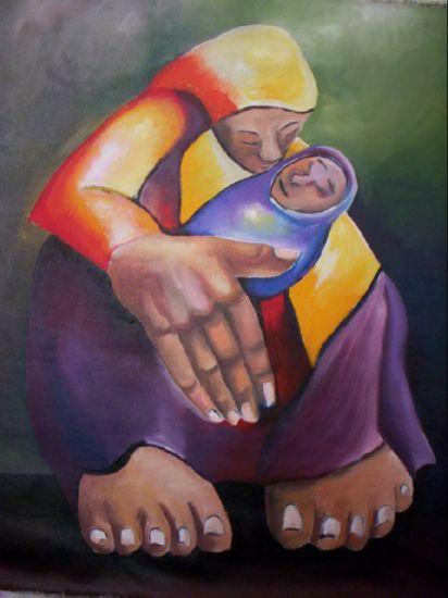 Madre Yasodha Acrílico Lienzo Figura