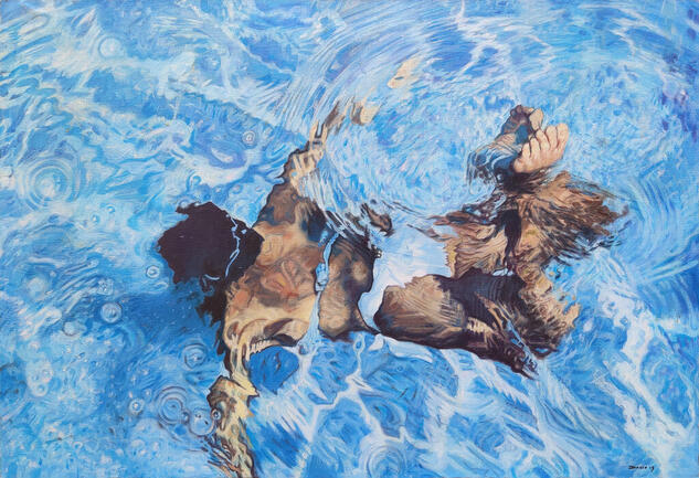 Refracción Figure Painting Oil Canvas