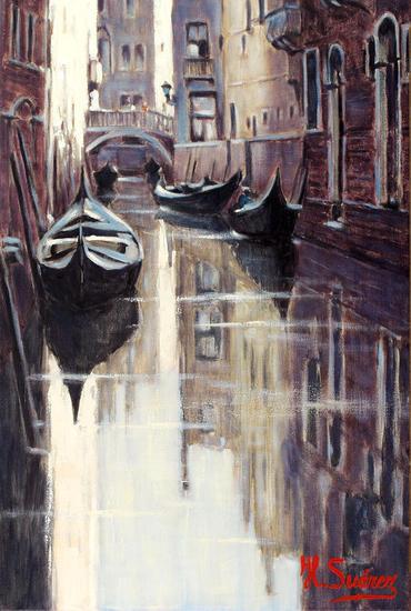 venecia.-reflejos en un canal