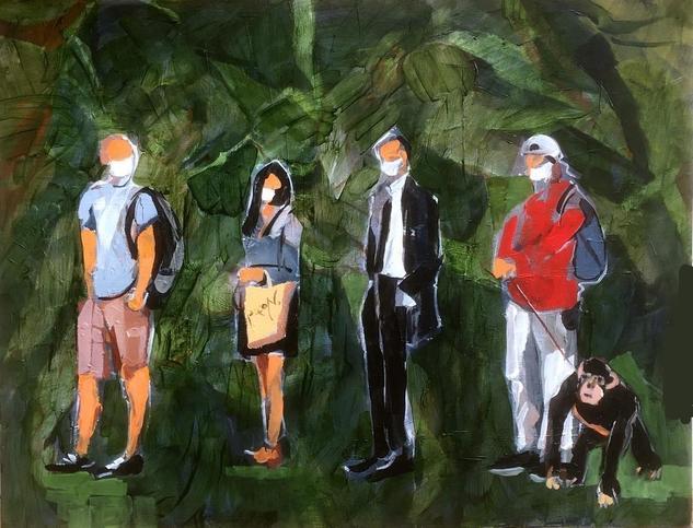 Ensoñación Figure Painting Acrylic Panel