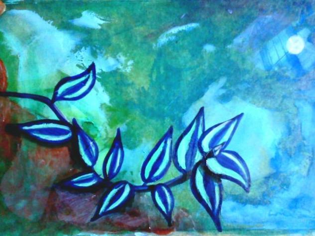 Sin título Acrílico Cartulina Floral