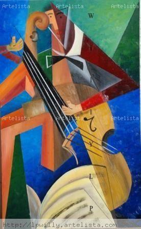 violoncelle V Tabla Óleo Figura