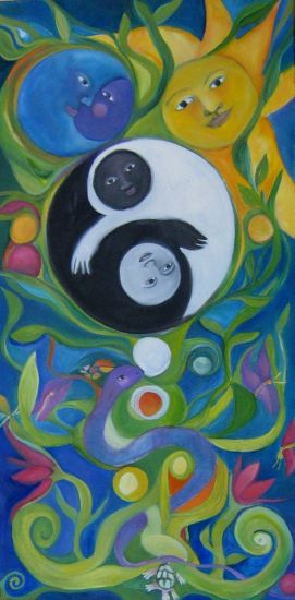 Tree of life Ying Yang