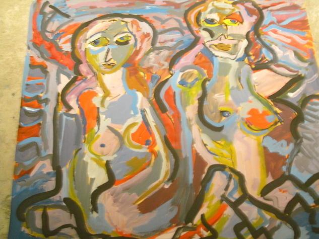 2 Mujeres Otros Acrílico Papel