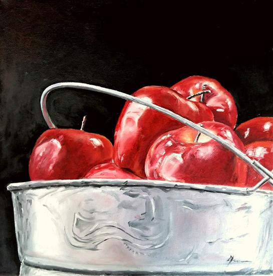 MANZANAS Canvas Oil Still Life Paintings