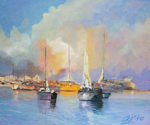 4011 Los narcos de Bahamas Marine Painting Oil Panel